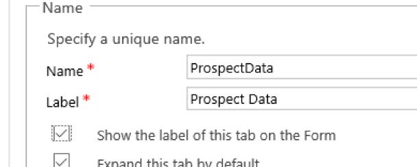 Hide Show Tabs Scripting Code Microsoft Dynamics CRM 3 Prospect Data