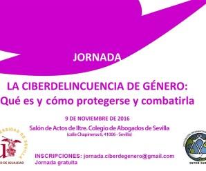 JORNADA LA CIBERDELINCUENCIA DE GÉNERO: Qué es y cómo protegerse y combatirla