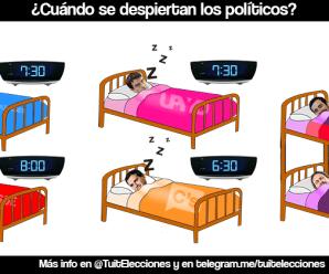 @Tuitelecciones: ¿Cuándo se despiertan los políticos? (11/06/2016)