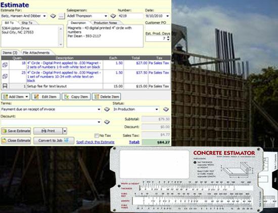 Estimator - Concrete Structures