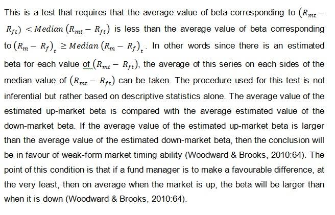 Weak form market timing