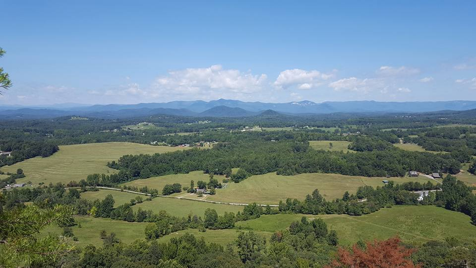 View from Glassy Mountain, Pickens County, SC.