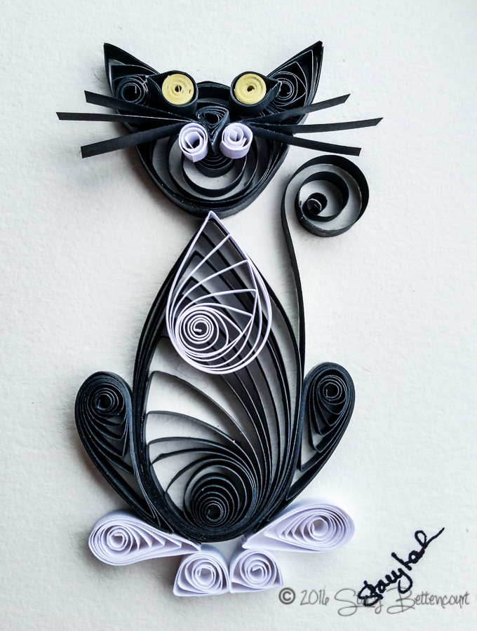 Simple Quilled Black Tabby