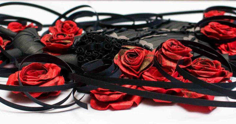 Quilled Gothic Blackened Heart | Dark Heart