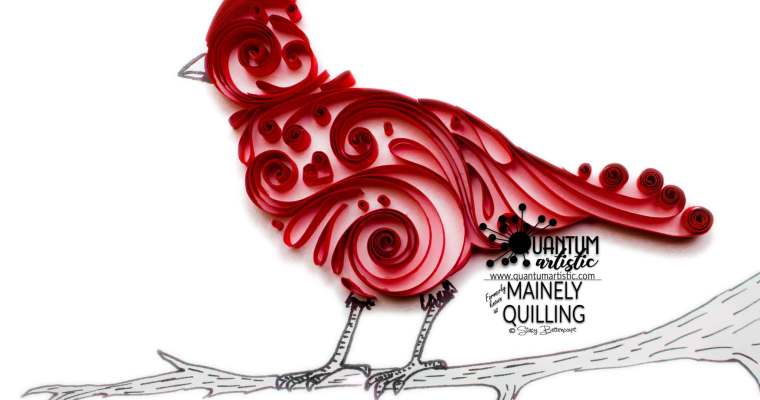 Hybrid Quilled Scrollwork Cardinal