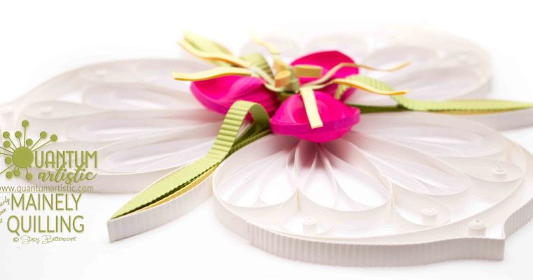 Quilled White Orchid Lily