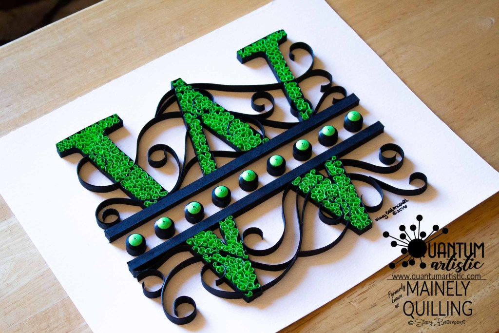 Quilled Letter W Monogram