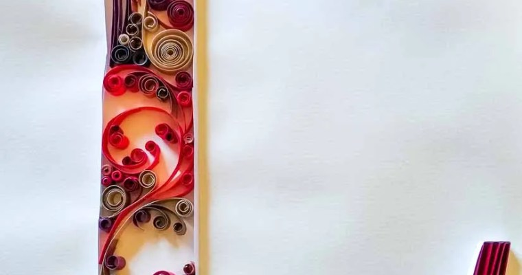 Paper Quilled Letter L | Fall Colors