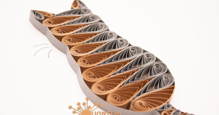 Paper Quilled Striped Cat | New Style