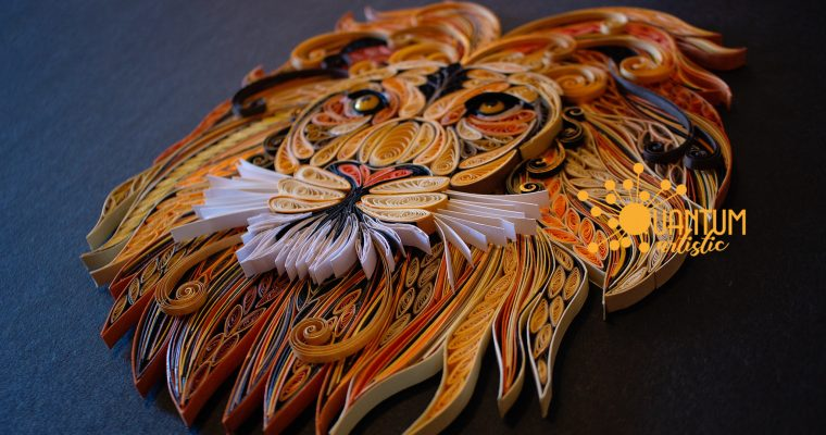 Paper Quilled Roaring Lion