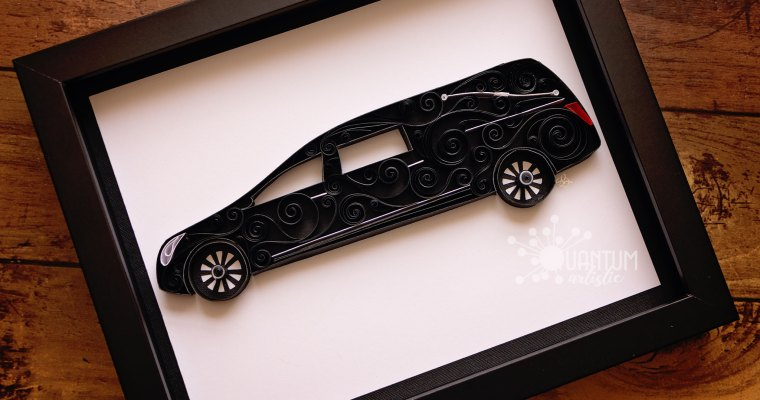 Paper Quilled Scrollwork Hearse
