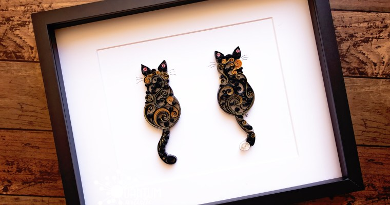 Double Original Scrollwork Cats