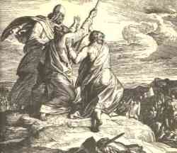 Moses at the battle against Amalek