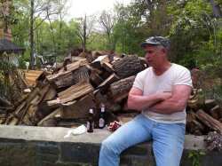 Wood chopping and beer