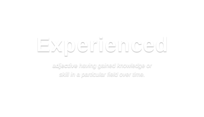 Experienced   /ɪkˈspɪərɪənst,ɛk-/ adjective having gained knowledge or skill in a particular field over time.