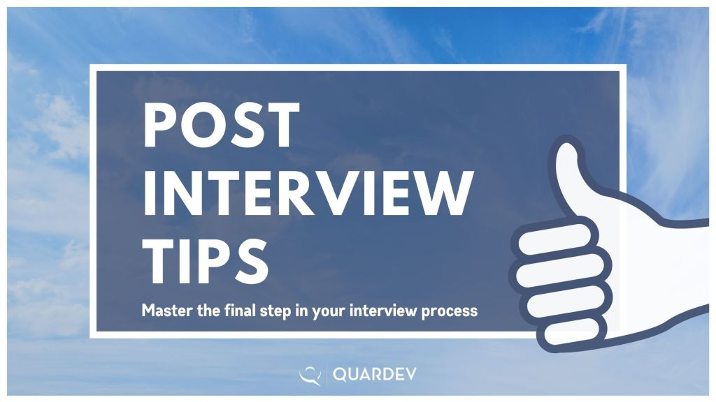 Post-Interview Tips