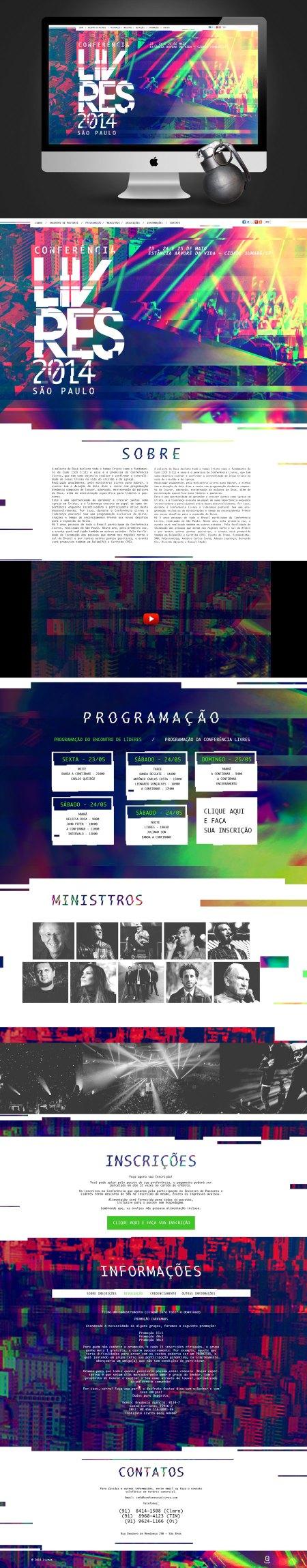 Site Conferência Livres 2014