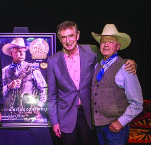 Forrest Lucas of Protect The Harvest and Bobby Ingersoll came together to make the Reno Snaffle Bit Futurity and Hall of Achievement Banquet a success. • Photo by John O'Hara
