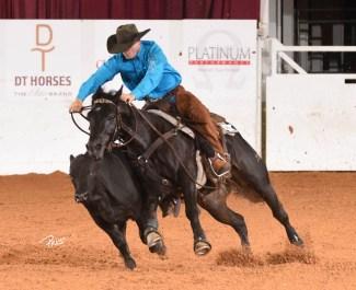 Clay Volmer circling cow