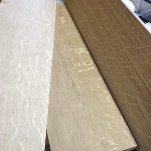Quartersawn English oak