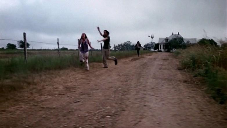 Image result for texas chainsaw massacre running scene