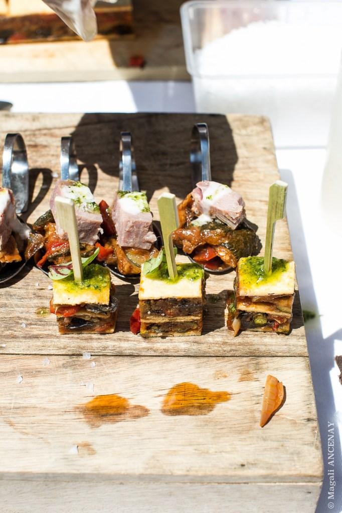 Ratatouille, Thon Confit, huile Olive, Pistou & Omelette Ratatouille - Eric SAPET