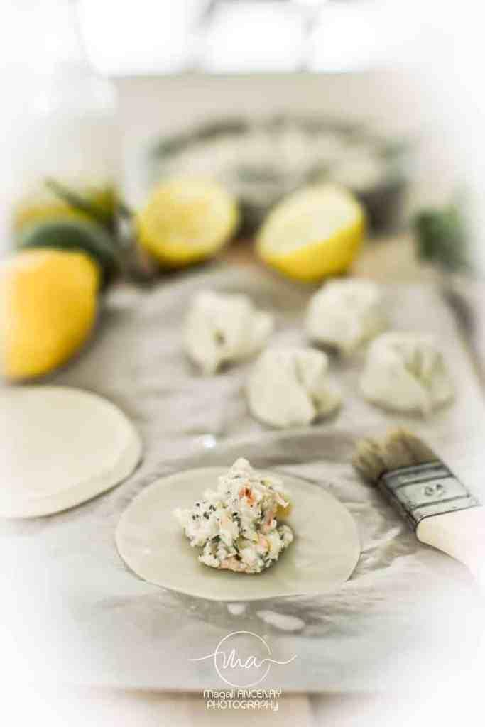 Tortellinis aux crevettes, et chèvre - Magali ANCENAY Photographe Culinaire
