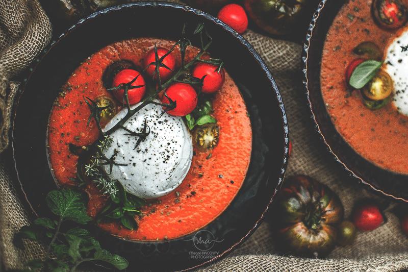 Soupe de tomate- Magali ANCENAY Photographe Culinaire