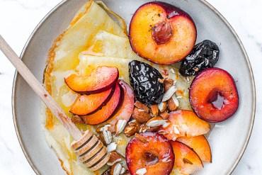 Prunes rôties à la vanille et Grand Marnier