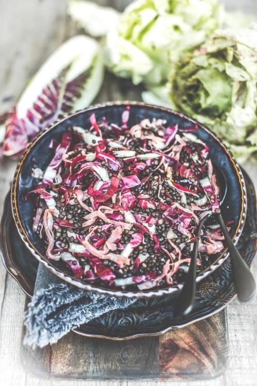 Salade de lentilles chicorée - Magali ANCENAY Photographe Culinaire