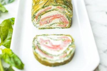 Roulé saumon pour un déjeuner de pâques