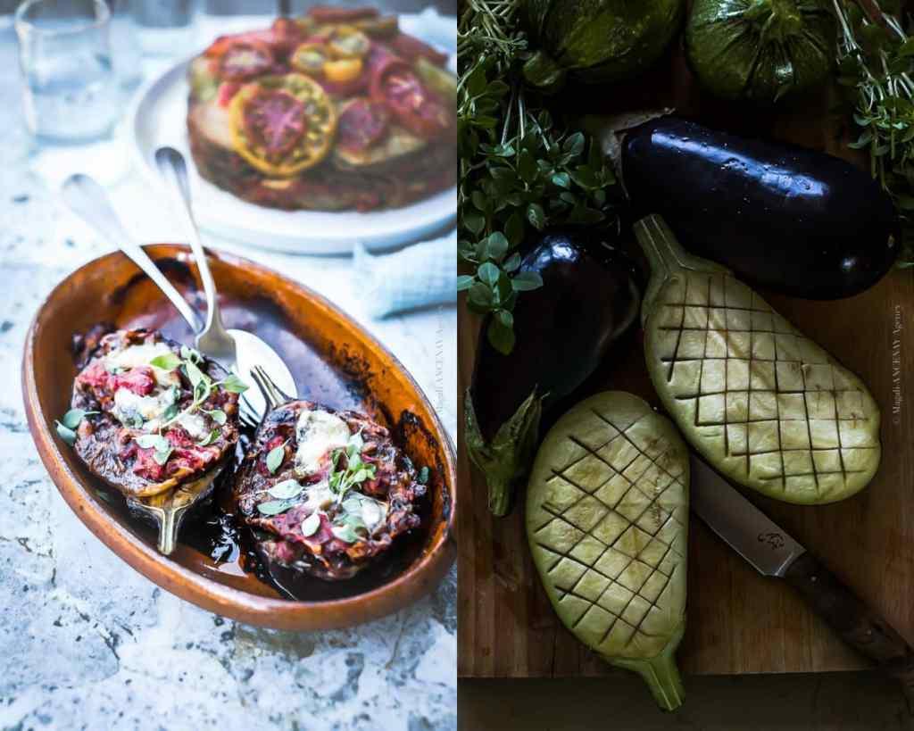 Aubergines farcies à la Mozzarella - Magali ANCENAY Agency