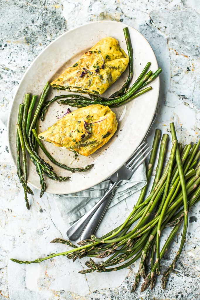Omelette Brousse Asperges sauvages