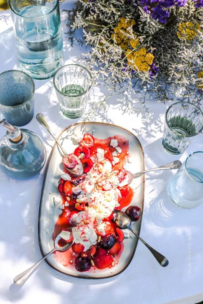 cerise et fraise à la crémé fouettée citron vert - Magali ANCENAY