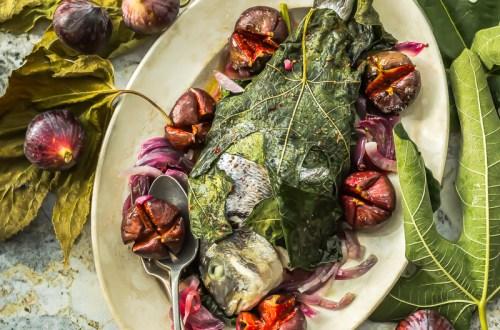 Dorade royale aux figues et oignons rouges - Magali ANCENAY
