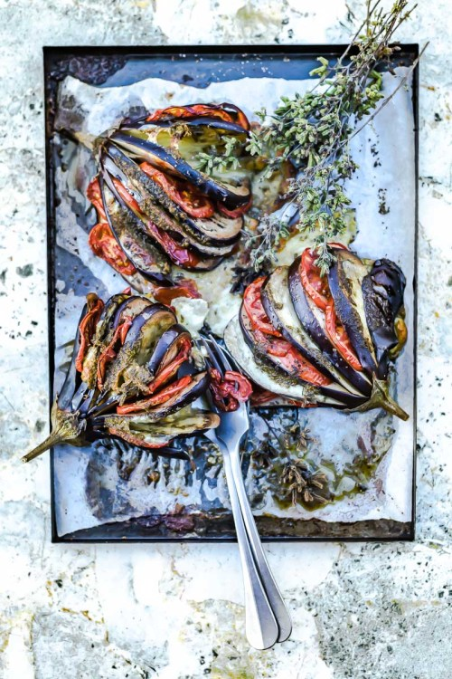 Eventails d'aubergines - Magali Ancenay
