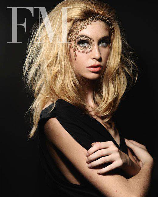 mage from FM magazine cover November 2009  Face Ornament : QUE Photo by Kris Micallef Model : Tiffany Pisani