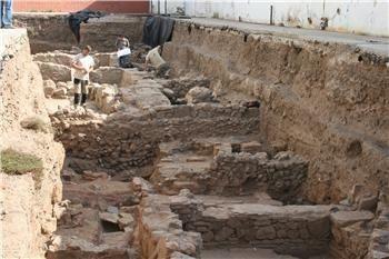 Aparecen restos de una casa señorial de época romana y de un edificio visigodo de nueva planta en un colegio de Mérida