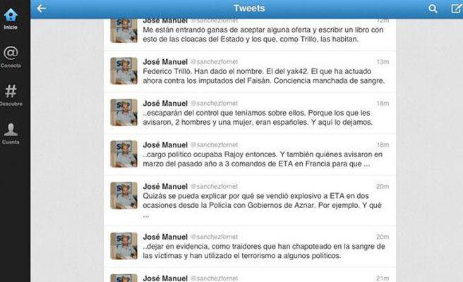 Sánchez Fornet acusa al Gobierno de Aznar de vender armas a ETA