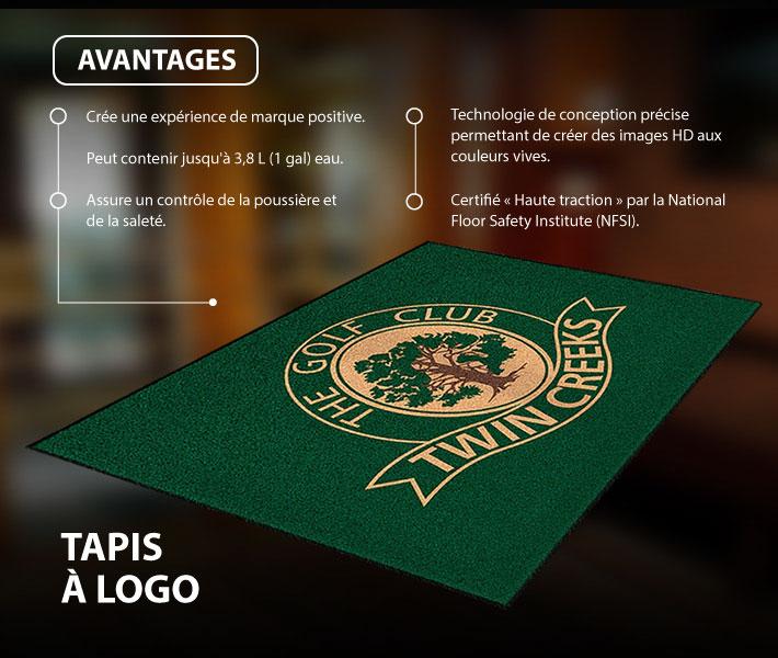 tapis de plancher personnalise avec