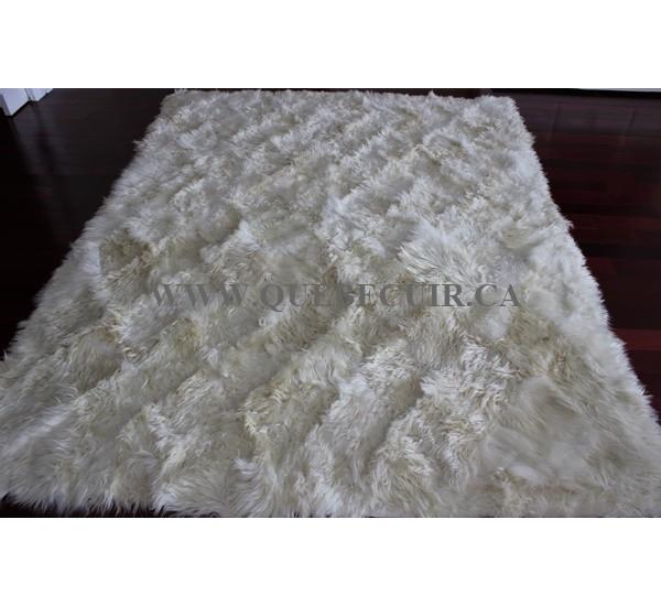 grand tapis en peau de chevre d angora