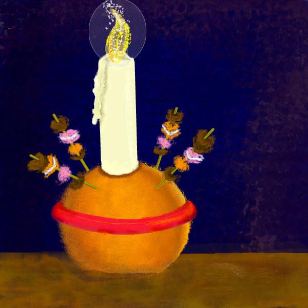 A Christingle candle