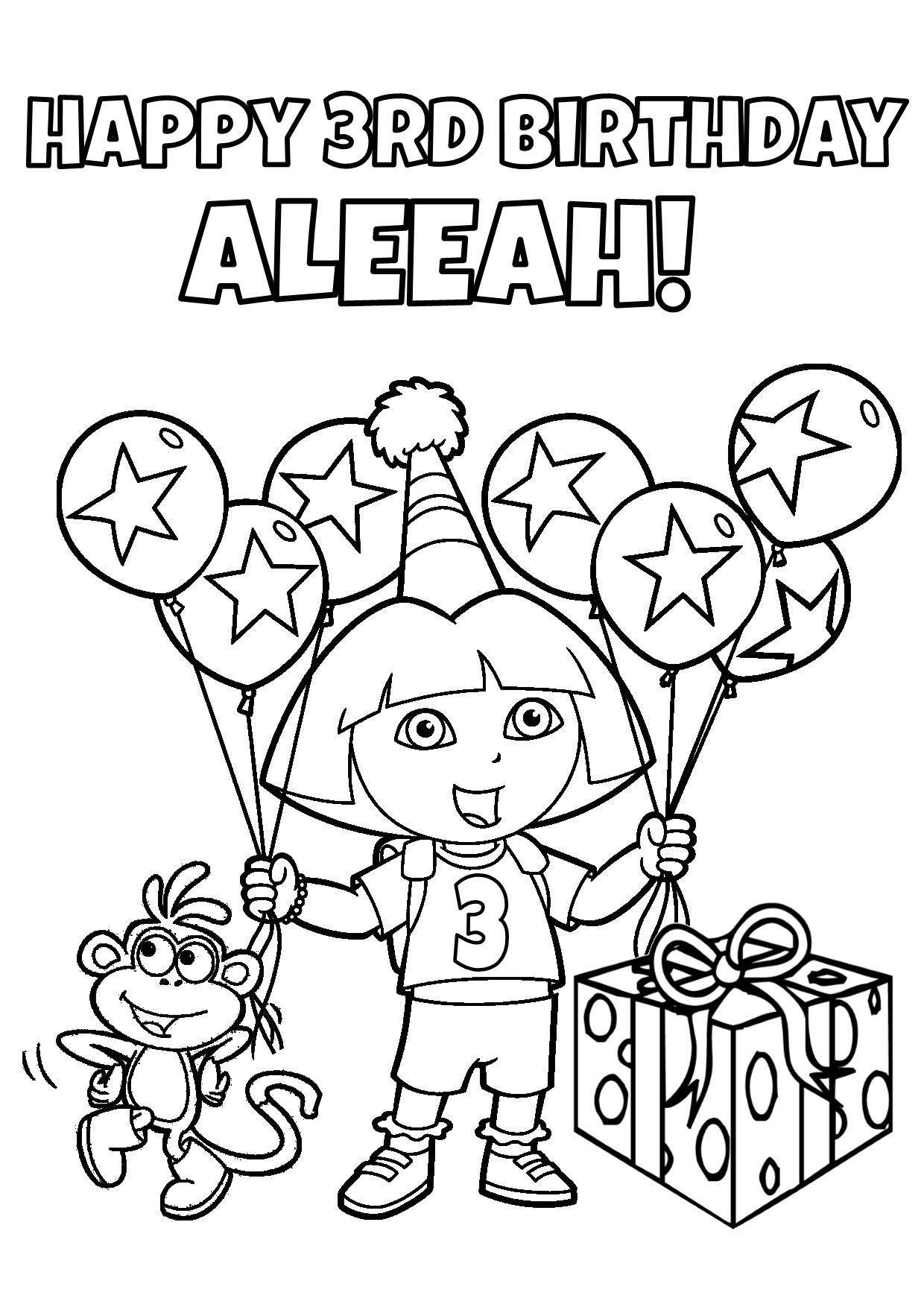 Printable Dora Birthday Party Supplies