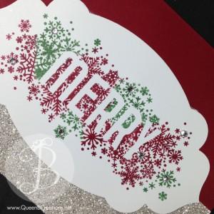 close up of handmade Christmas card