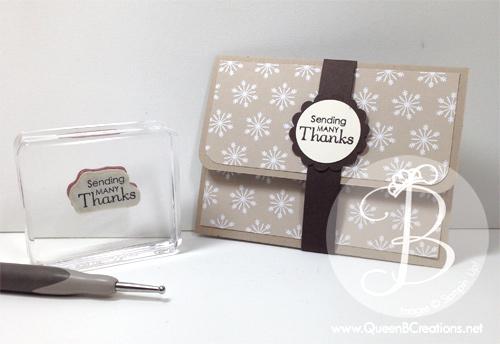 Stampin' Up! Gift Card Holder by Lisa Ann Bernard of Queen B Creations