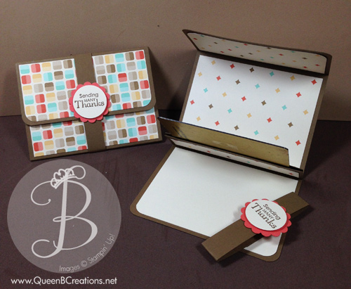 Stampin' Up! Thank You Gift Card Holder made by Lisa Ann Bernard of Queen B Creations