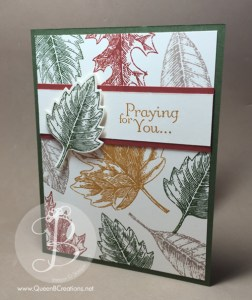 PPA272 Praying for You card made using stampin' up! vintage leaves and thoughts and prayers stamp sets done in gorgeous fall colors by Queen B Creations