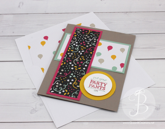 PPA296 Stampin' Up! Party Pants Birthday card