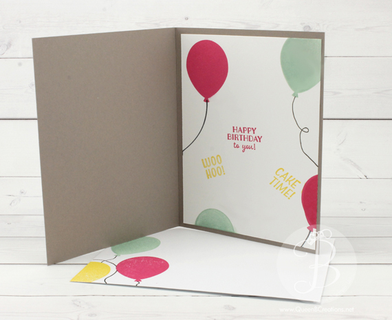PPA296 Stampin' Up! Party Pants Birthday card inside