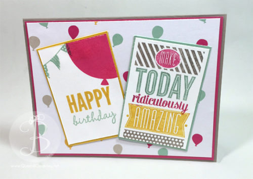 PPA298 stampin' Up! Amazing Birthday card
